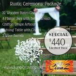 CEREMONY PACKAGE - RUSTIC - FROM $600 Brisbane Party Decorations _small
