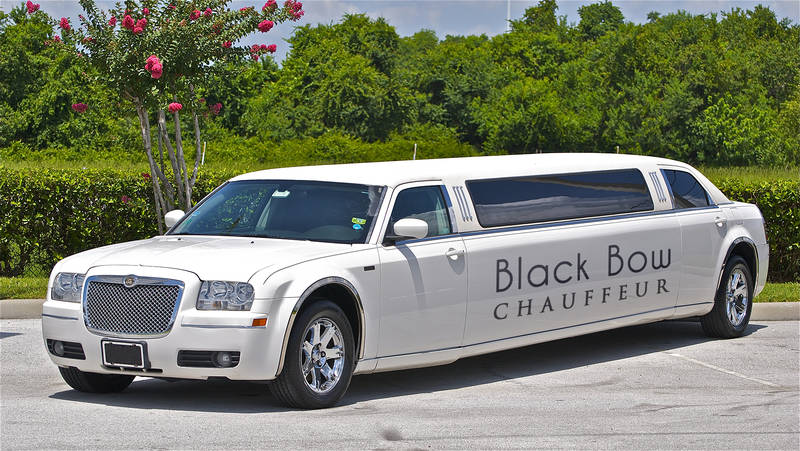 Black Bow Chauffeur Stretch Limousine