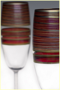 Celebration Stemware - All individually hand painted and gilded with hand carved stem.